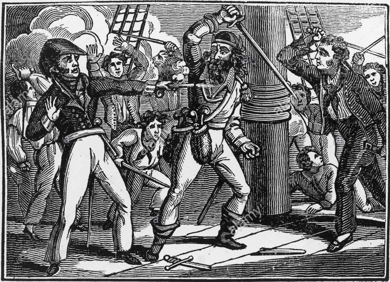 The pirate Blackbeard circa 1720 light